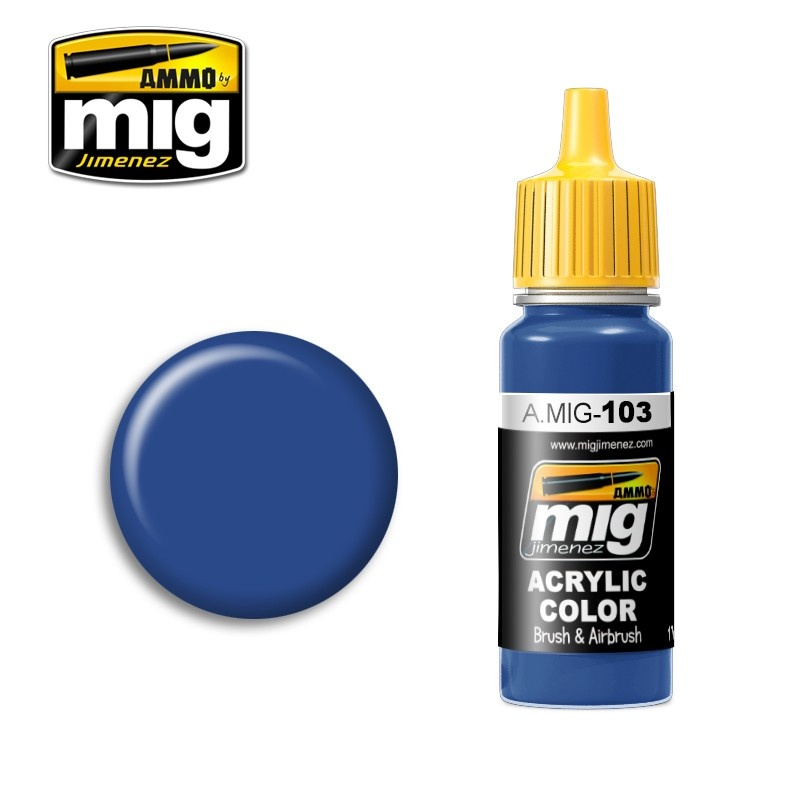 Ammo by Mig Jimenez Medium Blue - 17ml - A.MIG-0103