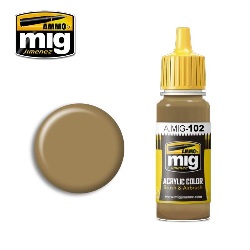 Ammo by Mig Jimenez Ochre Brown - 17ml - A.MIG-0102