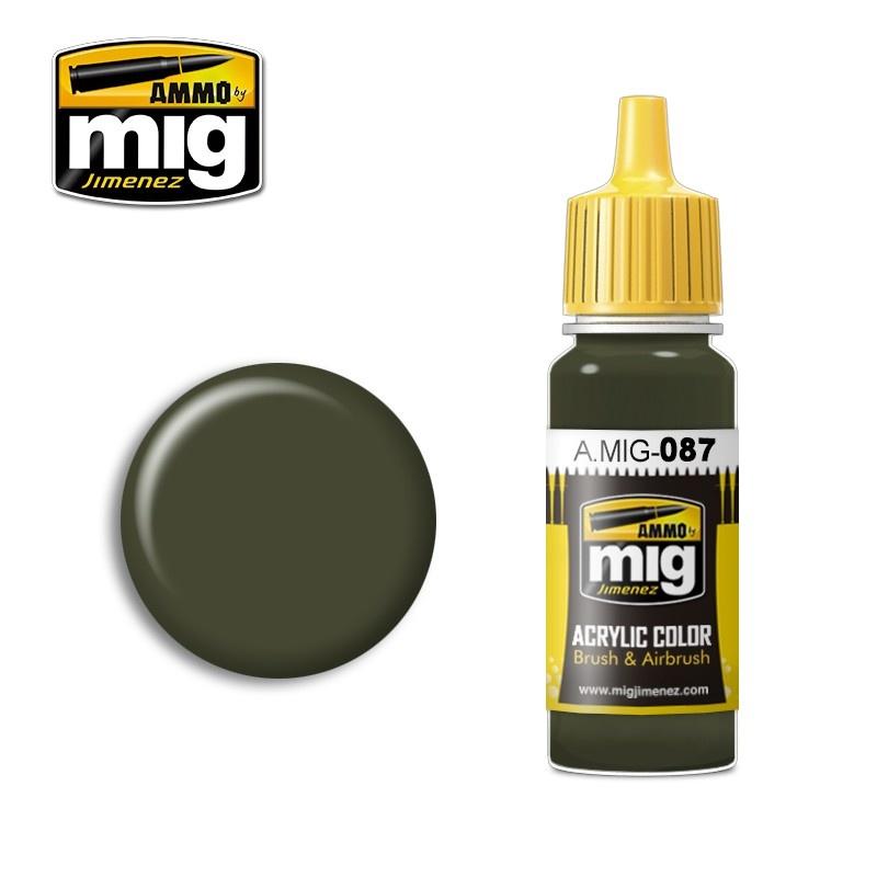 Ammo by Mig Jimenez Ral 6014 Gelboliv - 17ml - A.MIG-0087