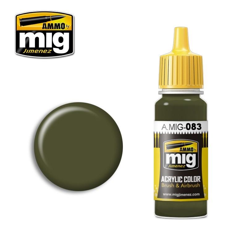 Ammo by Mig Jimenez Zashchitniy Zeleno (Russian Postwar Green) - 17ml - A.MIG-0083