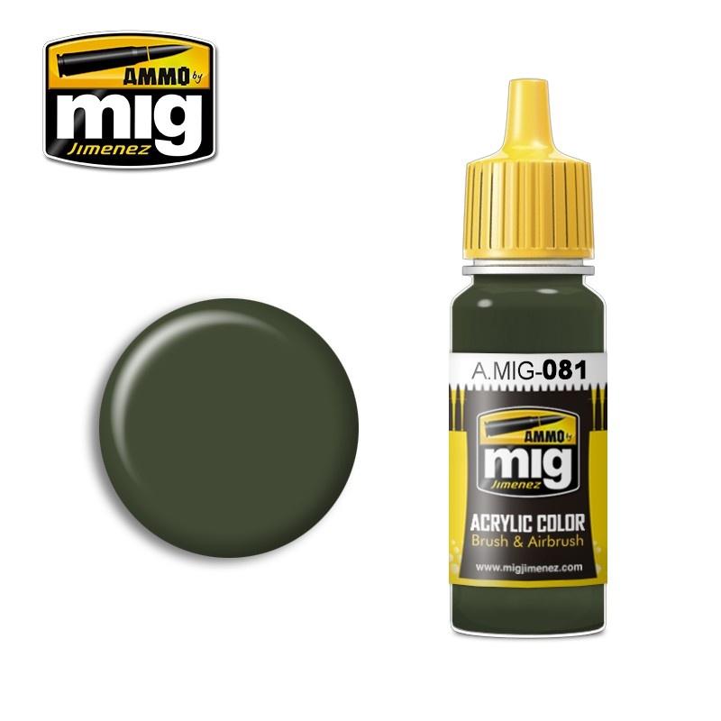 Ammo by Mig Jimenez Us Olive Drab Vietnam Era (Fs 24087) - 17ml - A.MIG-0081
