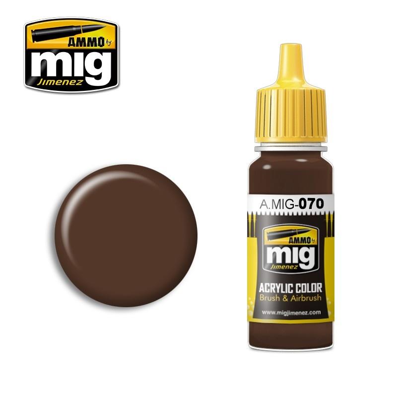 Ammo by Mig Jimenez Medium Brown - 17ml - A.MIG-0070