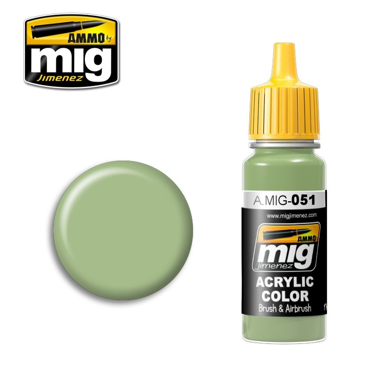 Ammo by Mig Jimenez Medium Light Green - 17ml - A.MIG-0051