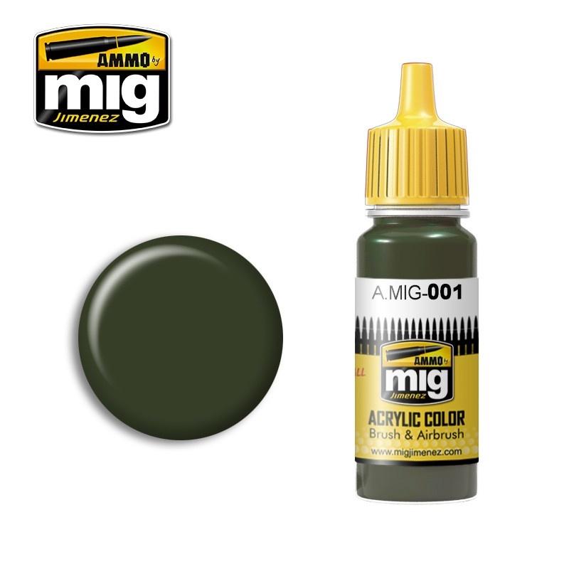 Ammo by Mig Jimenez Ral 6003 Olivgrün Opt.1 - 17ml - A.MIG-0001