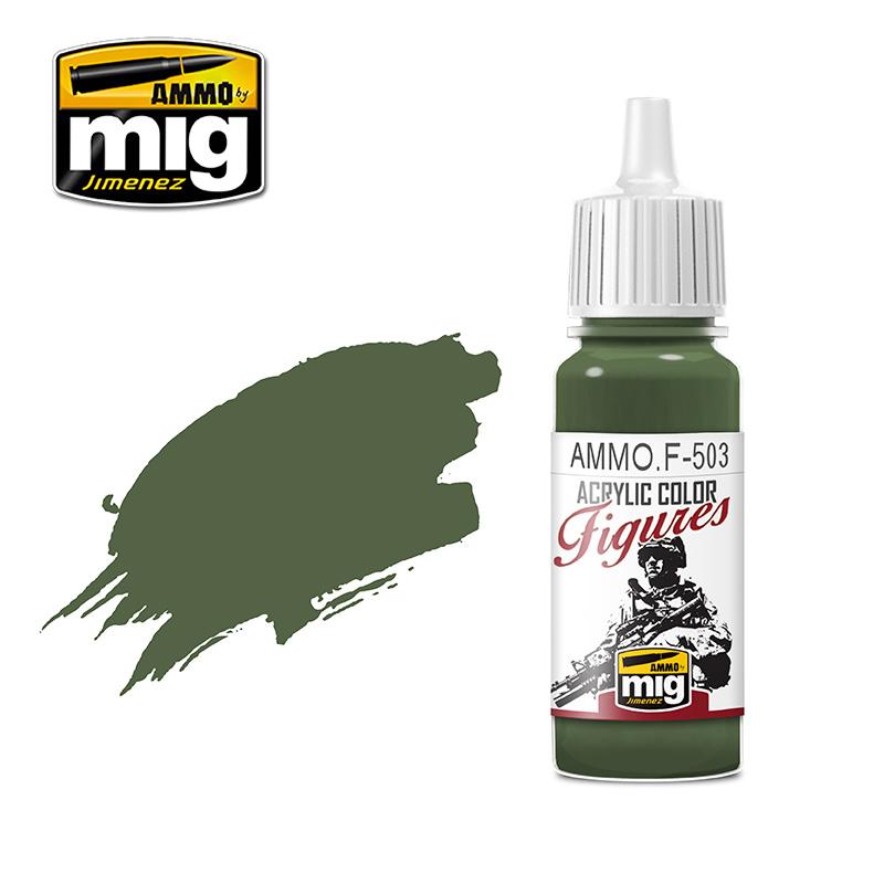 Ammo by Mig Jimenez Figure Series Dark Olive Green FS-34130 - 17ml - AMMO.F-503