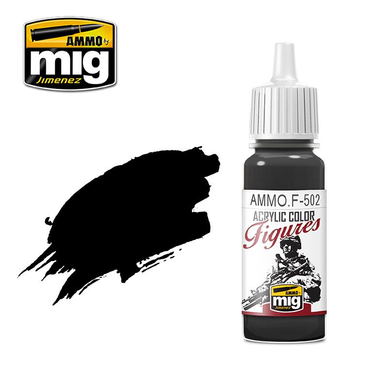 Ammo by Mig Jimenez Figure Series Outlining Black - 17ml - AMMO.F-502