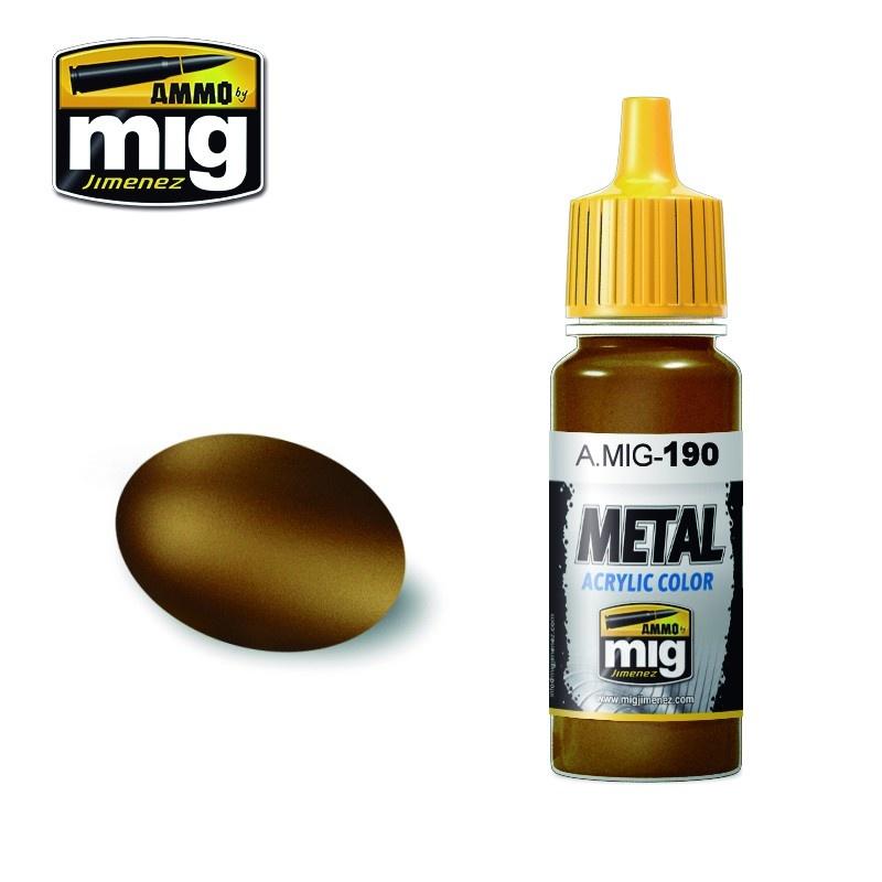 Ammo by Mig Jimenez Metal Acrylics - Old Brass - 17ml - A.MIG-0190