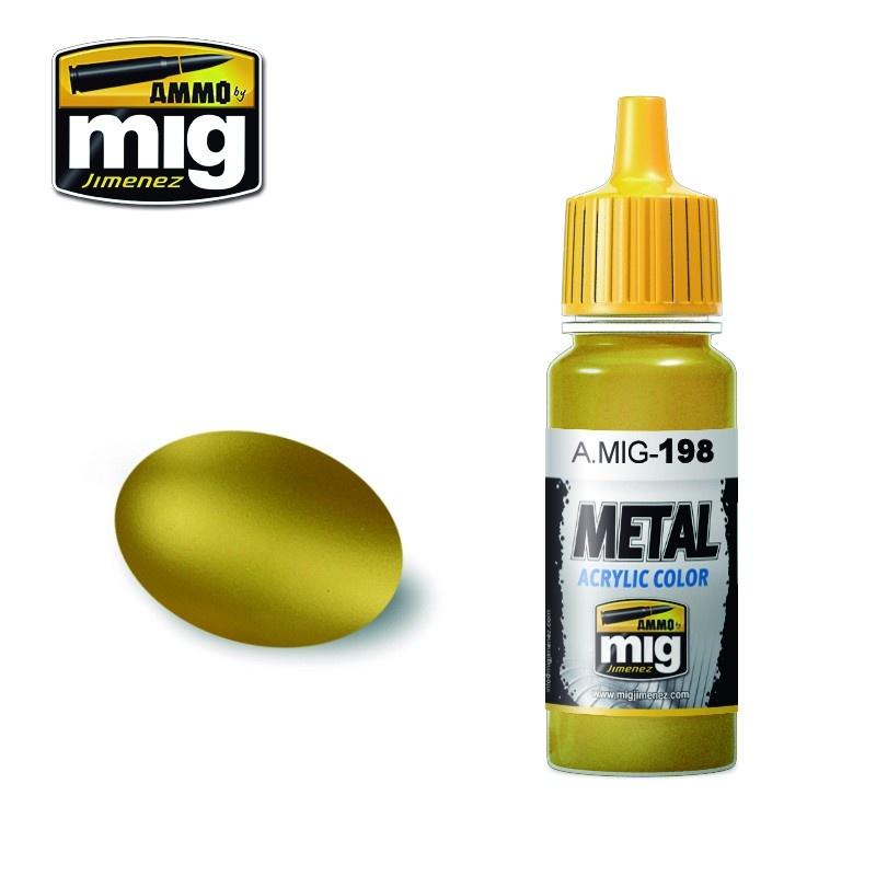 Ammo by Mig Jimenez Metal Acrylics - Gold - 17ml - A.MIG-0198