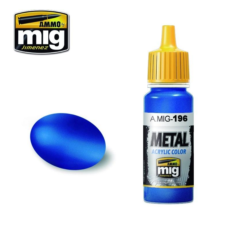 Ammo by Mig Jimenez Metal Acrylics - Warhead Metallic Blue - 17ml - A.MIG-0196
