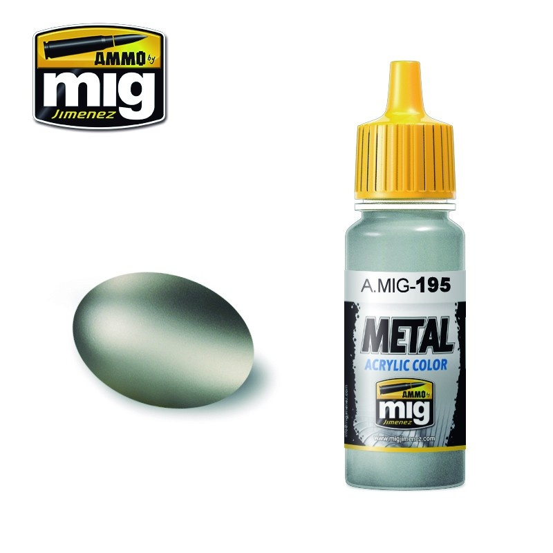 Ammo by Mig Jimenez Metal Acrylics - Silver - 17ml - A.MIG-0195