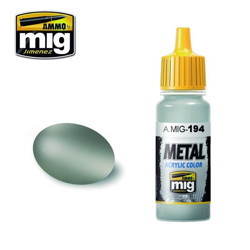Ammo by Mig Jimenez Metal Acrylics - Matt Aluminum - 17ml - A.MIG-0194