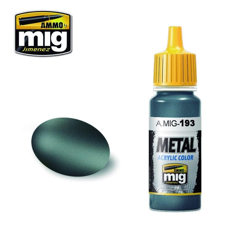Ammo by Mig Jimenez Metal Acrylics - Bluish Titanium - 17ml - A.MIG-0193