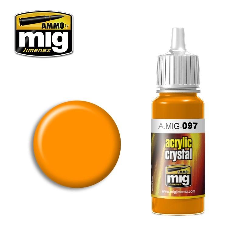Ammo by Mig Jimenez Crystal Acrylics - Crystal Orange - 17ml - A.MIG-0097