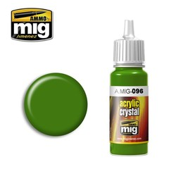 Crystal Acrylics - Crystal Green Periscope (And Tail Light On) - 17ml - A.MIG-0096