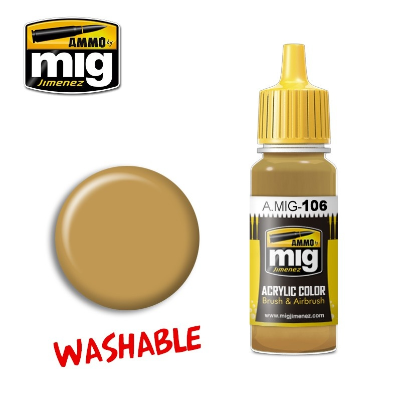 Ammo by Mig Jimenez Washable Sand (Ral 8020) - 17ml - A.MIG-0106