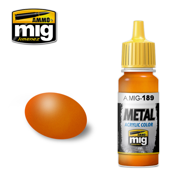 Ammo by Mig Jimenez Metal Acrylics - Metallic Orange - 17ml - A.MIG-0189