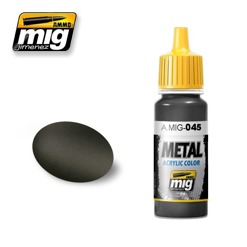 Ammo by Mig Jimenez Metal Acrylics - Gun Metal - 17ml - A.MIG-0045