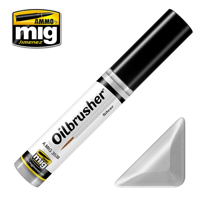 Ammo by Mig Jimenez Oilbrusher - Silver - A.MIG-3538