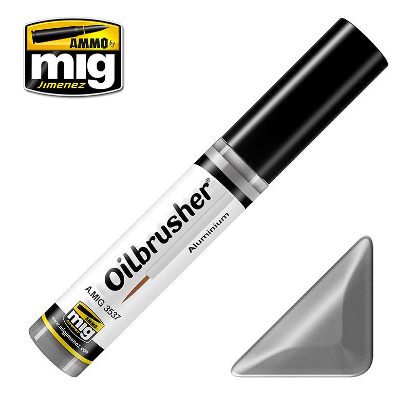 Ammo by Mig Jimenez Oilbrusher - Aluminium - A.MIG-3537