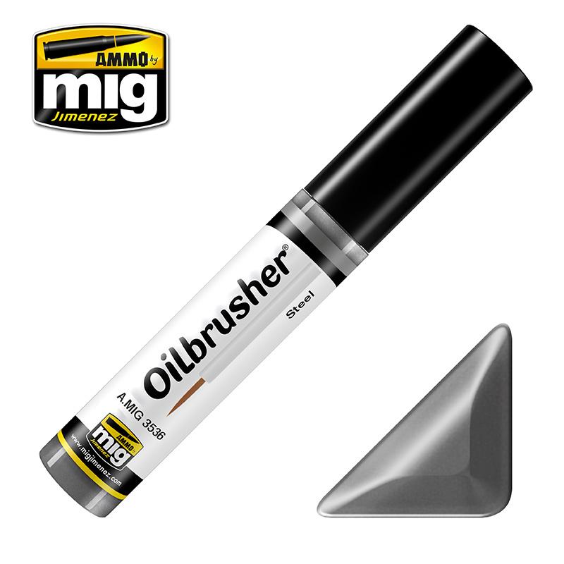 Ammo by Mig Jimenez Oilbrusher - Steel - A.MIG-3536