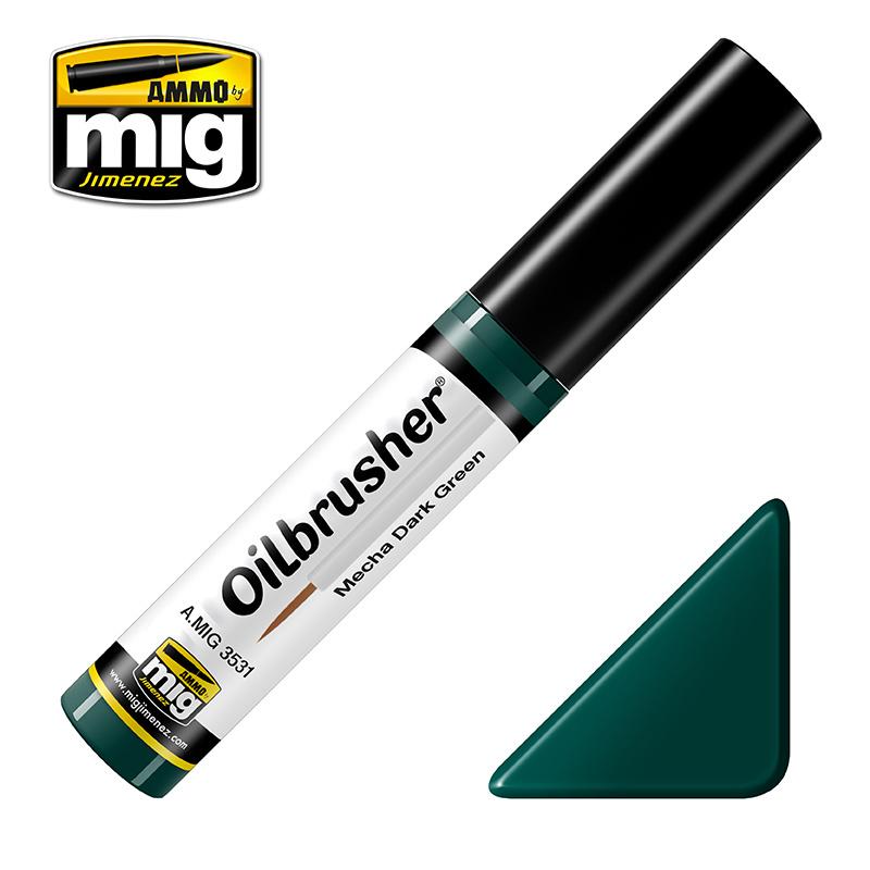 Ammo by Mig Jimenez Oilbrusher - Mecha Dark Green - A.MIG-3531