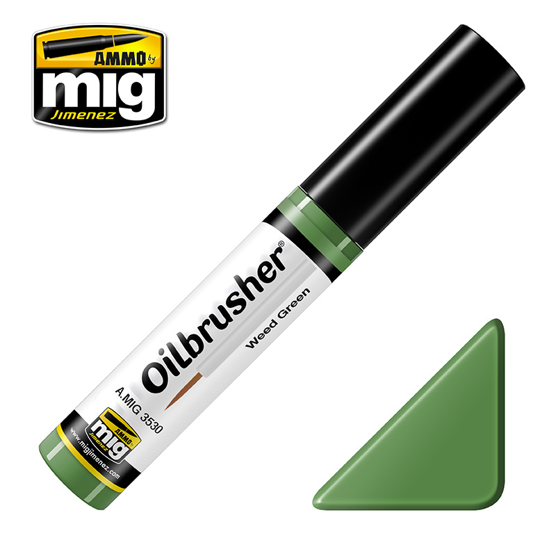 Ammo by Mig Jimenez Oilbrusher - Weed Green - A.MIG-3530