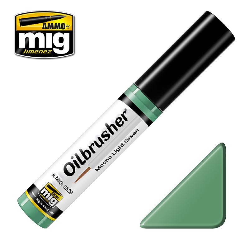 Ammo by Mig Jimenez Oilbrusher - Mecha Light Green - A.MIG-3529