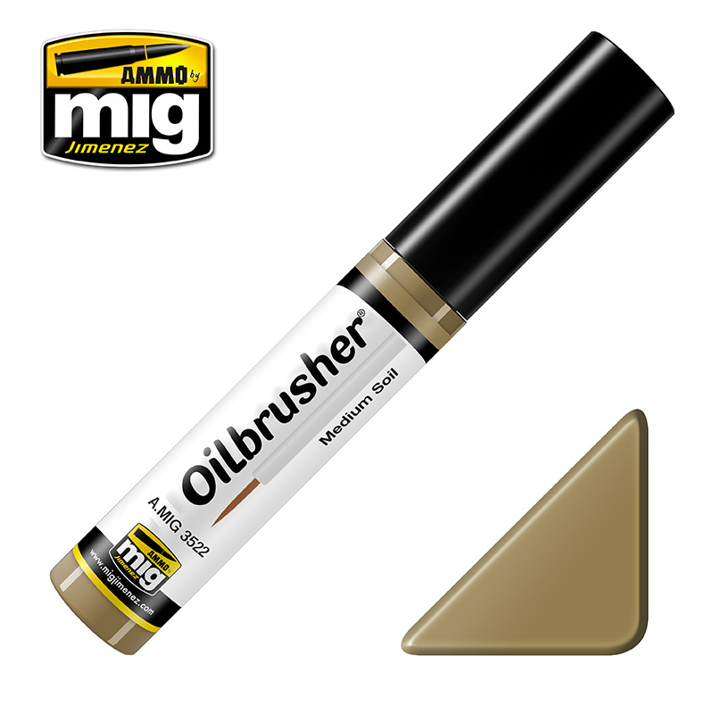 Ammo by Mig Jimenez Oilbrusher - Medium Soil - A.MIG-3522