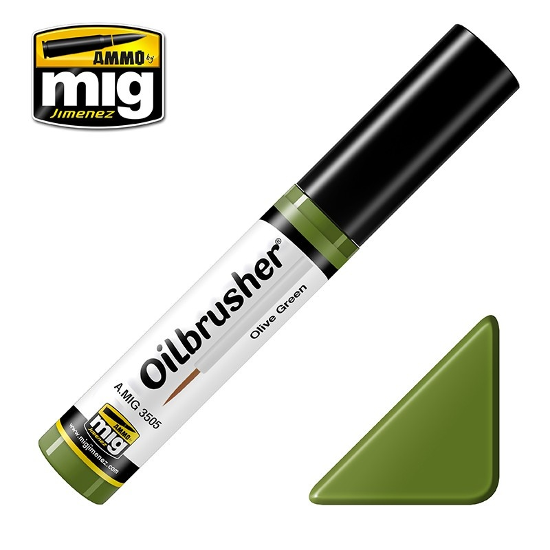 Ammo by Mig Jimenez Oilbrusher - Olive Green - A.MIG-3505
