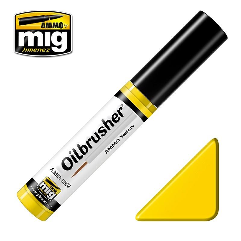 Ammo by Mig Jimenez Oilbrusher - Ammo Yellow - A.MIG-3502