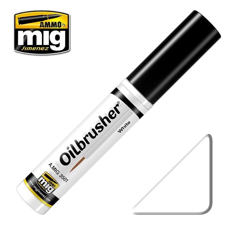 Ammo by Mig Jimenez Oilbrusher - White - A.MIG-3501