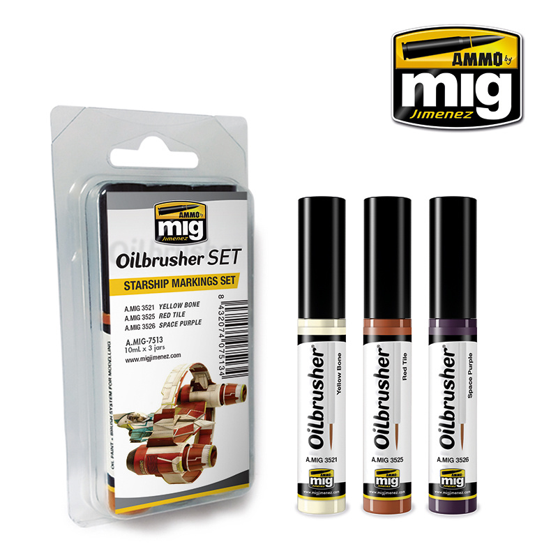 Ammo by Mig Jimenez Oilbrusher Starship Markings Set - A.MIG-7513