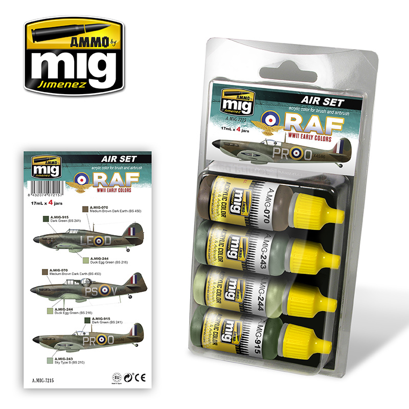 Ammo by Mig Jimenez Aircraft Paint Sets - Early WWII RAF Colors - A.MIG-7215