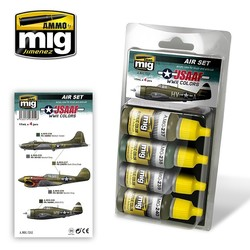 Aircraft Paint Sets - USAAF WWII Colors - A.MIG-7212