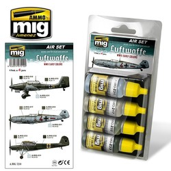 Aircraft Paint Sets - Luftwaffe WWII Early Colors - A.MIG-7210