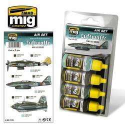 Aircraft Paint Sets - Luftwaffe WWII Late Colors - A.MIG-7209