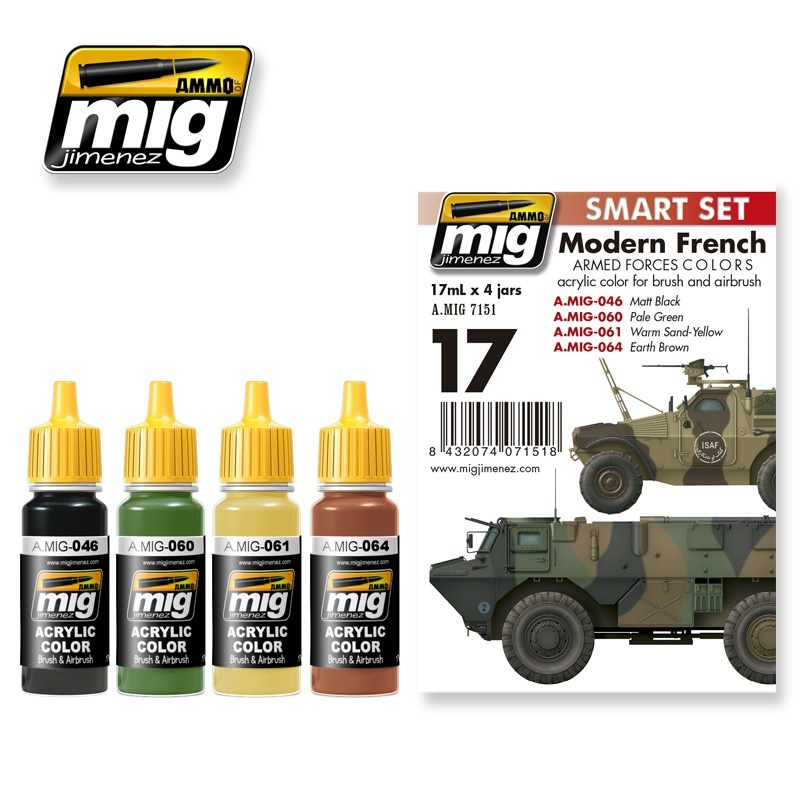 Ammo by Mig Jimenez Modern French Armed Forces Colors - A.MIG-7151