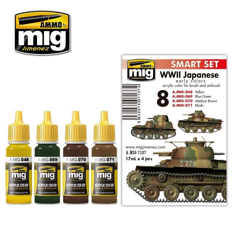 Ammo by Mig Jimenez WW II Japanese Afv Early Colors - A.MIG-7137