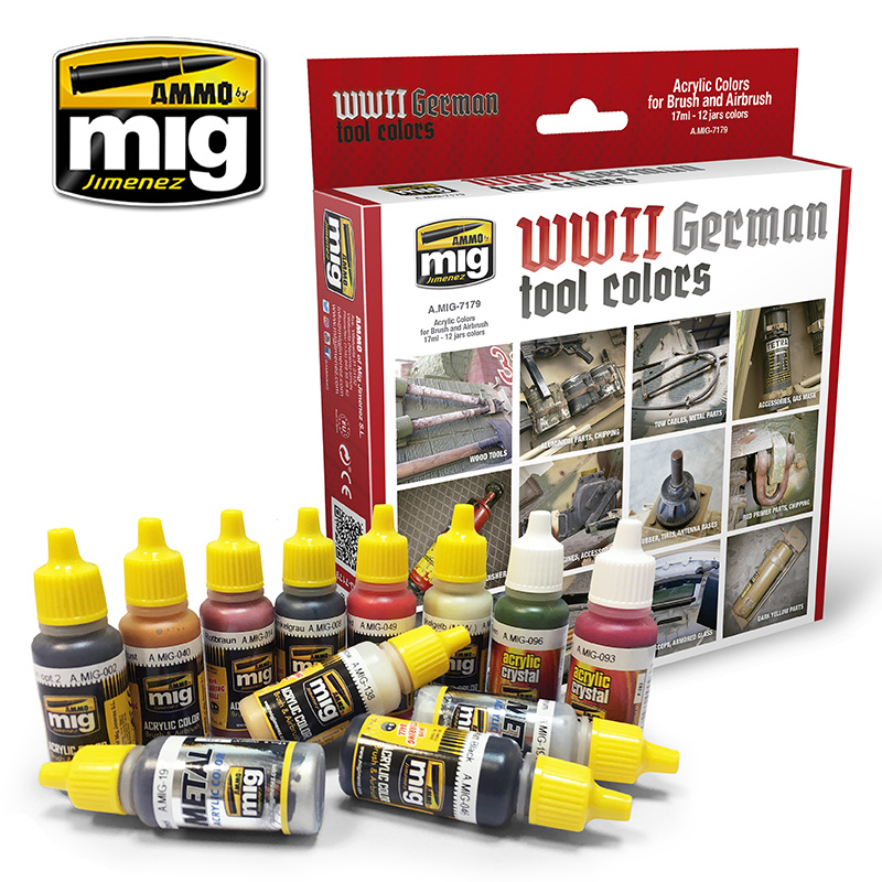 Ammo by Mig Jimenez German Tools Colors - A.MIG-7179