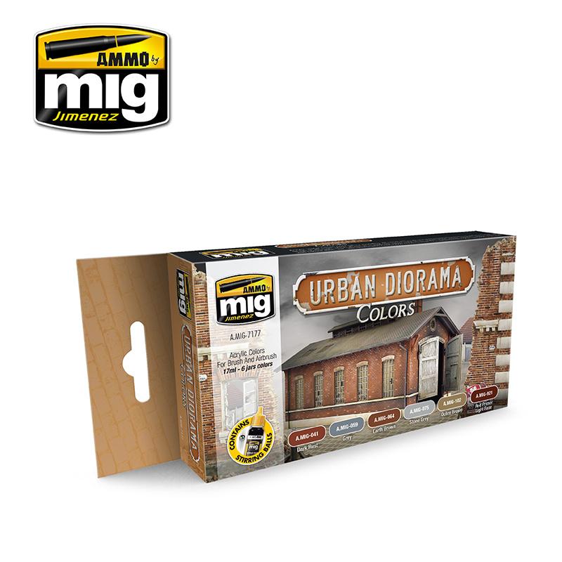 Ammo by Mig Jimenez Urban Diorama Colors - A.MIG-7177
