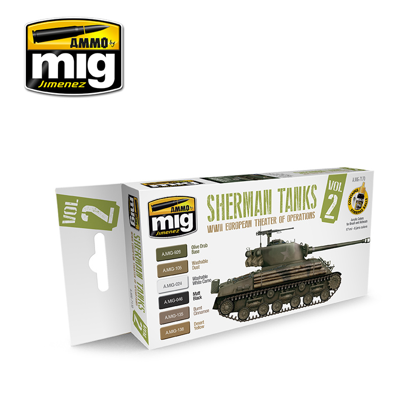 Ammo by Mig Jimenez WWII European Theater Of Operations Sherman Tanks - A.MIG-7170