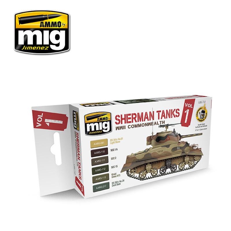 Ammo by Mig Jimenez WWII Commonwealth Sherman Tanks - A.MIG-7169