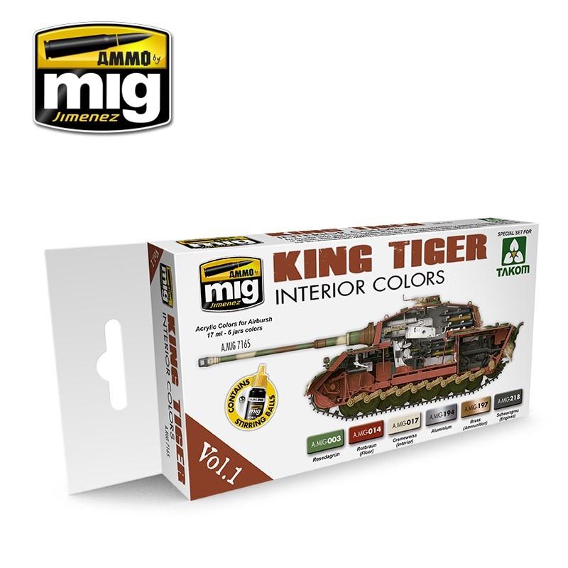 Ammo by Mig Jimenez King Tiger Interior Color (Special Takom Edition) Vol.1 - A.MIG-7165