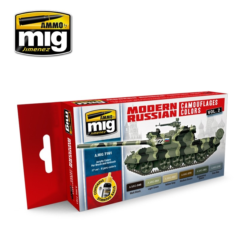 Ammo by Mig Jimenez Modern Russian Camo Colors Vol.2  - A.MIG-7161
