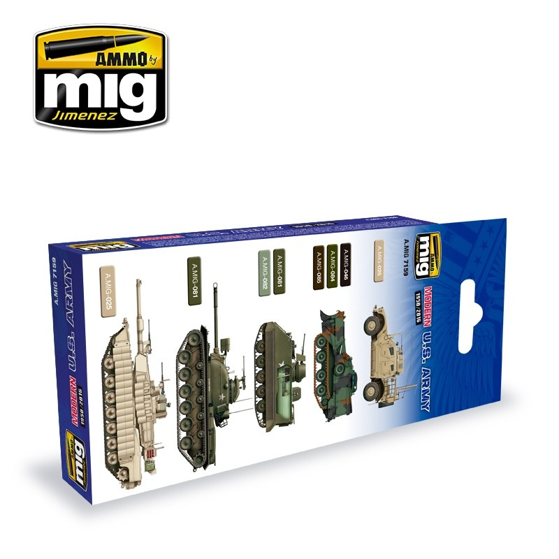 Ammo by Mig Jimenez Modern Usa Army Colors - A.MIG-7159
