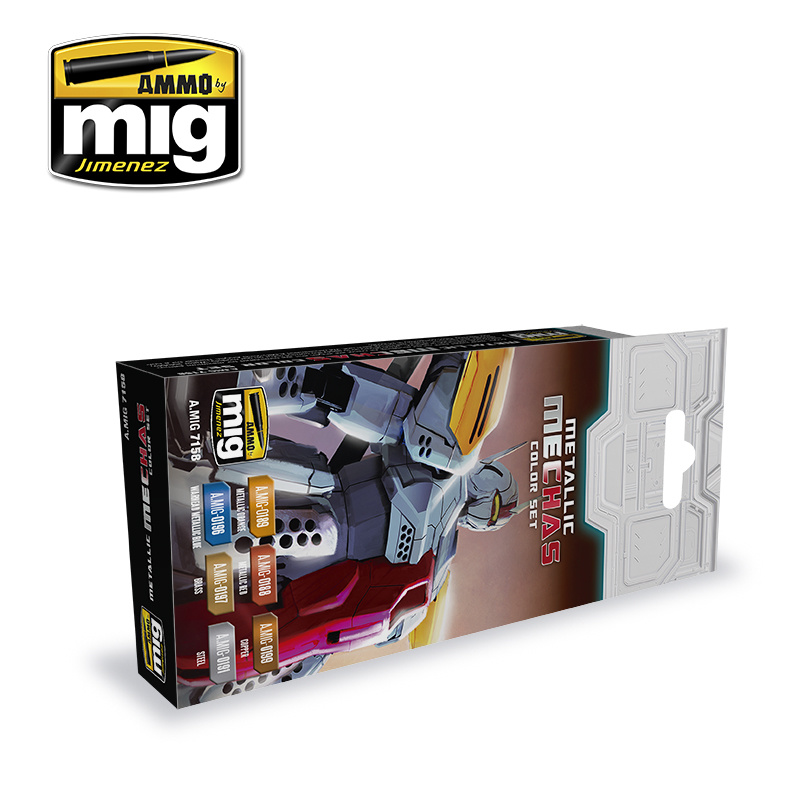 Ammo by Mig Jimenez Metallic Mechas Color Set - A.MIG-7158