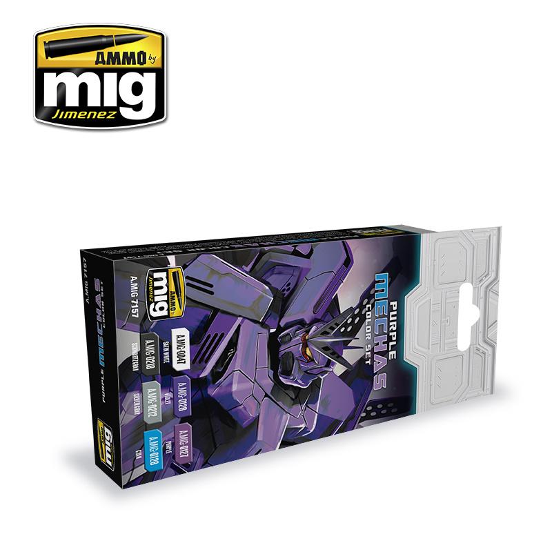 Ammo by Mig Jimenez Purple Mechas Color Set - A.MIG-7157