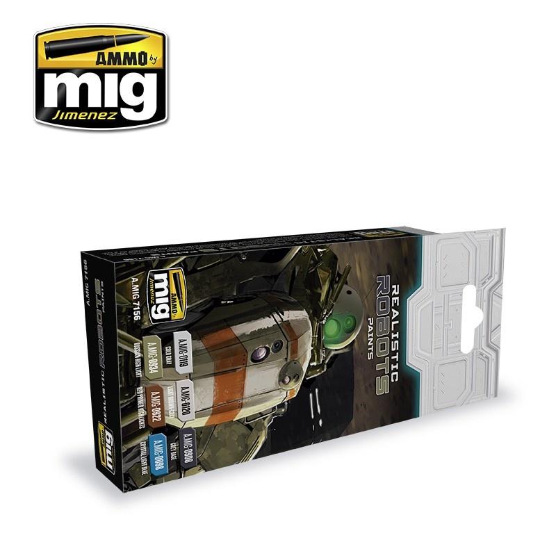 Ammo by Mig Jimenez Realistic Robots Color Set - A.MIG-7156
