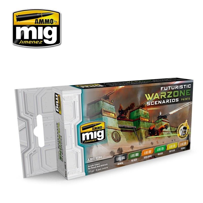 Ammo by Mig Jimenez Futuristic Warzone Scenarios Color Set - A.MIG-7154