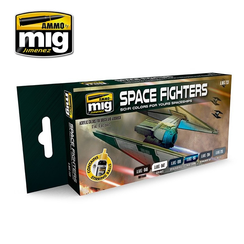 Ammo by Mig Jimenez Space Fighters Sci-Fi Colors - A.MIG-7131